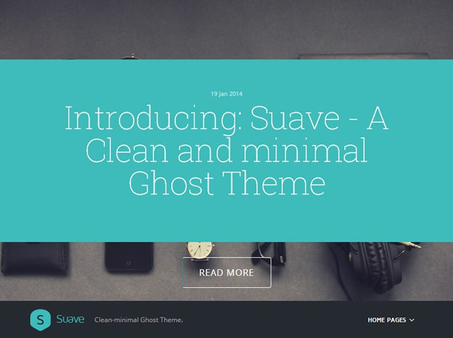 Suave - Ghost theme